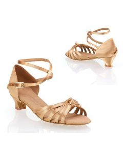 Tan Satin - Heel 35